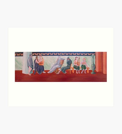 Classical Greek Scene Six Women Art Print
