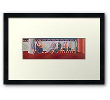 Classical Greek Scene Six Women Framed Print