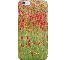 Meadow With Beautiful Bright Red Poppy Flowers iPhone Case/Skin