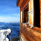 Solvay emergency hut and Italian Alps by Roy  Lindman