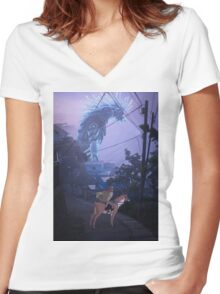 the journey to the west  Women's Fitted V-Neck T-Shirt