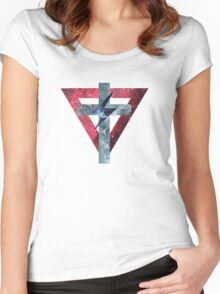 Lady Gaga Symbols Women's Fitted Scoop T-Shirt