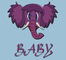 A Baby design T-shirt of a Wooly Mammoth baby Kids Clothes