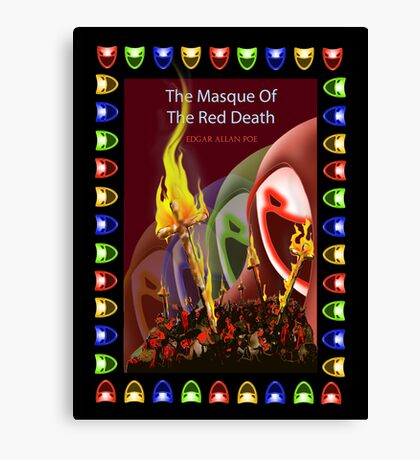 The masque of the red death Canvas Print