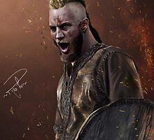 Ragnar Lothbrok digital painting by Ree-sah