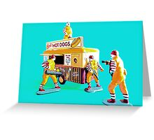 McMafia in action! Greeting Card