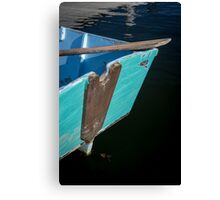 Blue Boat in Kennebunkport Canvas Print