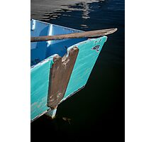 Blue Boat in Kennebunkport Photographic Print