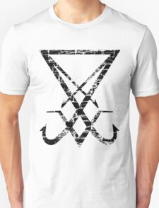THE SIGIL OF LUCIFER - destroyed black T-Shirt