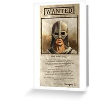 Wanted: The Gray Fox Greeting Card