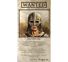 Wanted: The Gray Fox Photographic Print