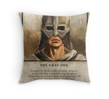 Wanted: The Gray Fox Throw Pillow