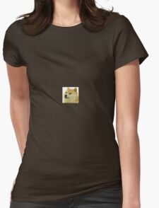small doge soft edges Womens Fitted T-Shirt