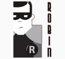 Black & White Robin (Batman Side-Kick)  by Crazy88Designs