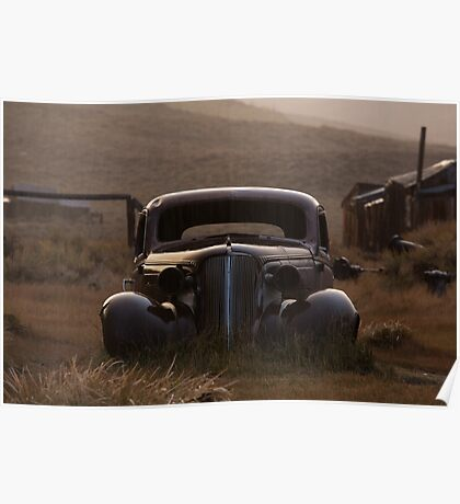 Bodie's 1937 Chevrolet in the Rain Poster