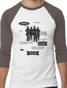 Stargate SG-1 - quotes (B/W design) Men's Baseball ¾ T-Shirt