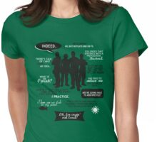 Stargate SG-1 - quotes (B/W design) Womens Fitted T-Shirt