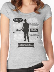 Stargate SG-1 - Jack quotes (B/W design) Women's Fitted Scoop T-Shirt