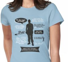 Stargate SG-1 - Jack quotes (B/W design) Womens Fitted T-Shirt
