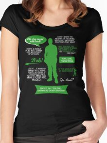 Stargate SG-1 - Jack quotes (Green/White design) Women's Fitted Scoop T-Shirt