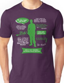 Stargate SG-1 - Jack quotes (Green/White design) Unisex T-Shirt