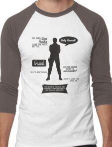 Stargate SG-1 - Sam quotes (B/W design) Men's Baseball ¾ T-Shirt