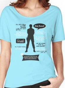 Stargate SG-1 - Sam quotes (B/W design) Women's Relaxed Fit T-Shirt