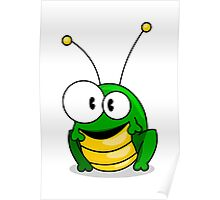 Cartoon grasshopper Poster