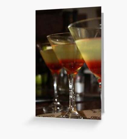 Sour Apple Martinis  Greeting Card