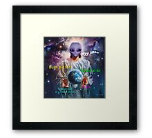 ayy lmao -SAINT- Framed Print