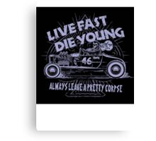 Hot Rod Live Fast Die Young - Purple (alpha bkground) Canvas Print