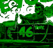 Hot Rod Live Fast Die Young - Green (alpha bkground) Sticker