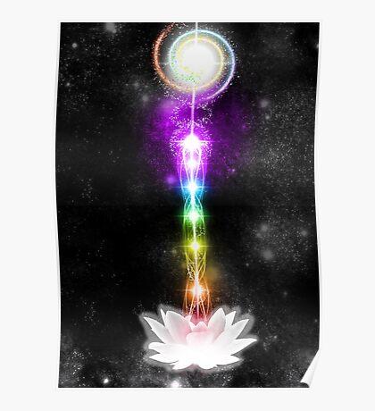 Sacred Chakras Sacred Lotus Poster