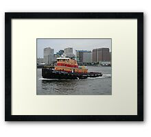 Vincent D Tibbetts Jr Tugboat Framed Print