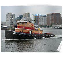 Vincent D Tibbetts Jr Tugboat Poster