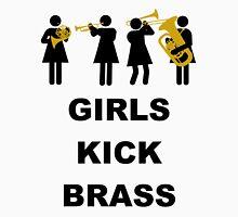 Girls Kick Brass Womens Fitted T-Shirt