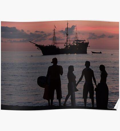 drifting and drifting like a ship over the sea... flotando y flotando como un barco en el mar Poster
