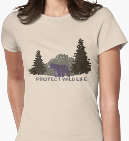Wild Life Womens Fitted T-Shirt