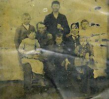 Benj. F. Ivy, Sr., Family tintype by wandringeye