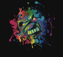 VIBRANT ABSTRACT ZOMBIE - small design by sleepingmurder
