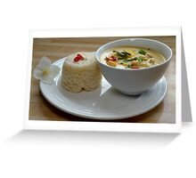 Thai Yellow Curry With Chicken and Vegetables Greeting Card