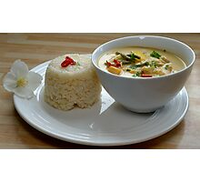 Thai Yellow Curry With Chicken and Vegetables Photographic Print