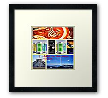 DNA reproduction seeds in space Framed Print