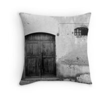 Nothing Inside - Black and White Throw Pillow