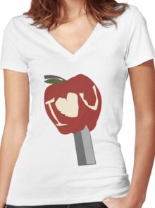 I lOve U Women's Fitted V-Neck T-Shirt