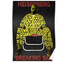 Breaking Bad - Heisenberg Typography Poster