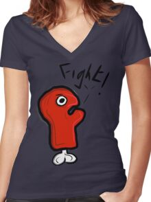 FIGHT! GLOVE! Women's Fitted V-Neck T-Shirt
