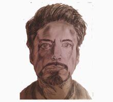 Robert Downey Jr. Drawing One Piece - Long Sleeve