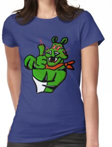 EVIL GREEN TONY Womens Fitted T-Shirt