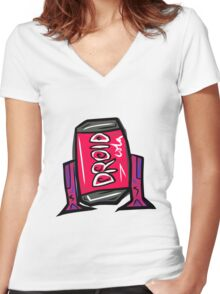 DROID COLA Women's Fitted V-Neck T-Shirt